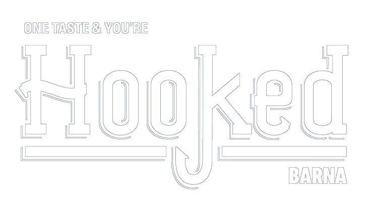 Hooked Barna logo, award winning dine in and takeaway seafood in Galway