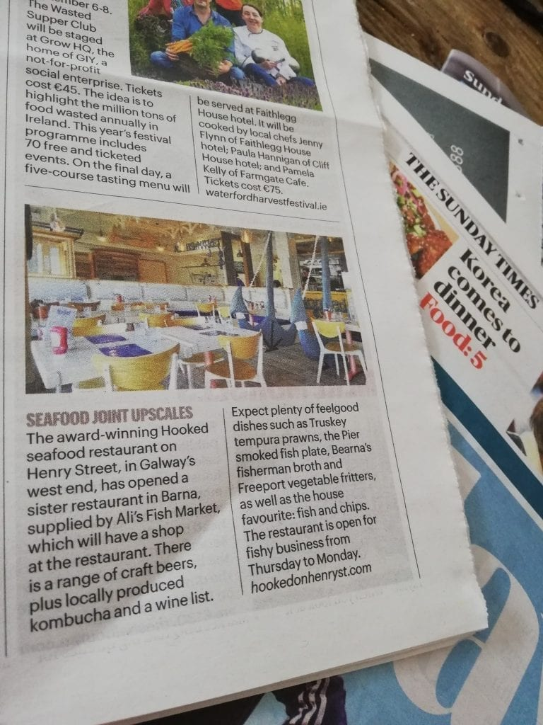 Hooked in the Connacht Tribune for our award winning seafood dishes!